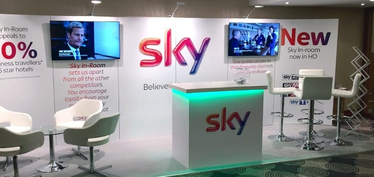 Sky exhibition stand