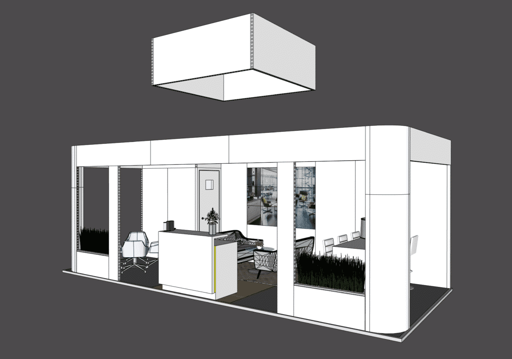 exhibition stand guide structure