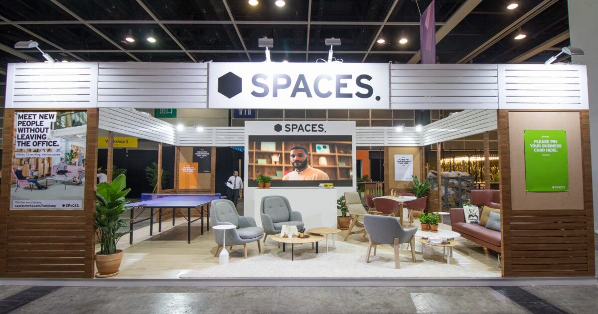 Spaces at RISE Hong Kong 2018 Front entrance looking into exhibition stand