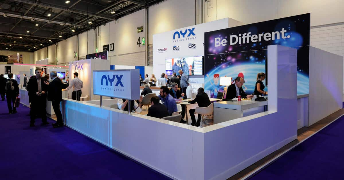 NYX Lounge at ICE Totally Gaming 2017 – 17.5m x 11m