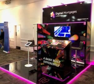 atom bank engaging exhibition stand