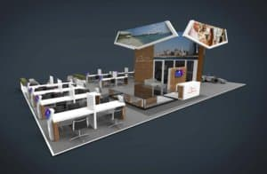 3D design for two storey exhibition stand