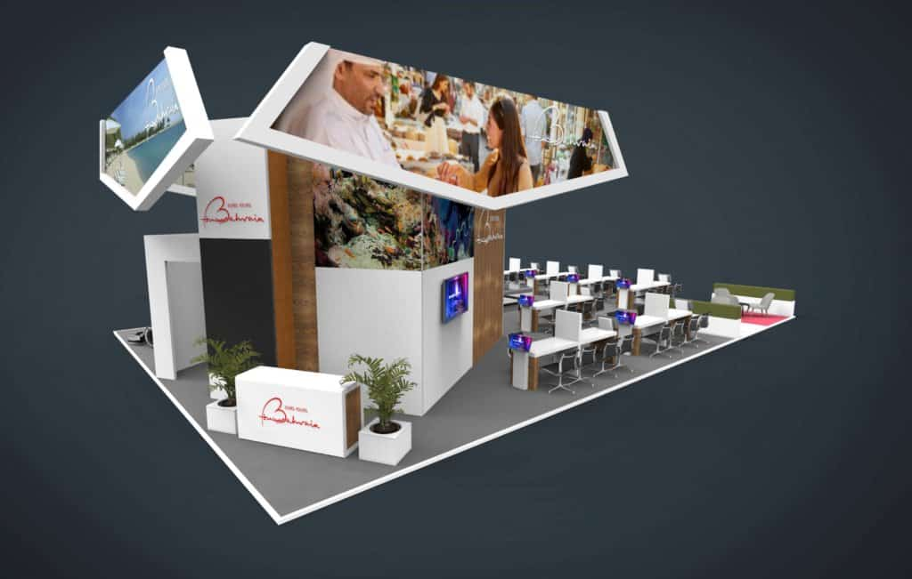 double decker exhibition stand at WTM 2019