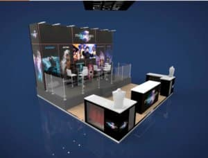 exhibition stand to two levels