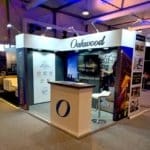 2m x 3m Oakwood exhibition stand