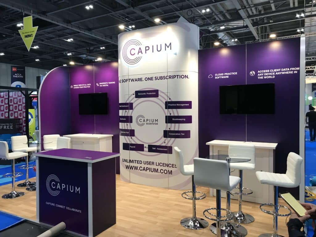 Capium stand at Accountex 2019