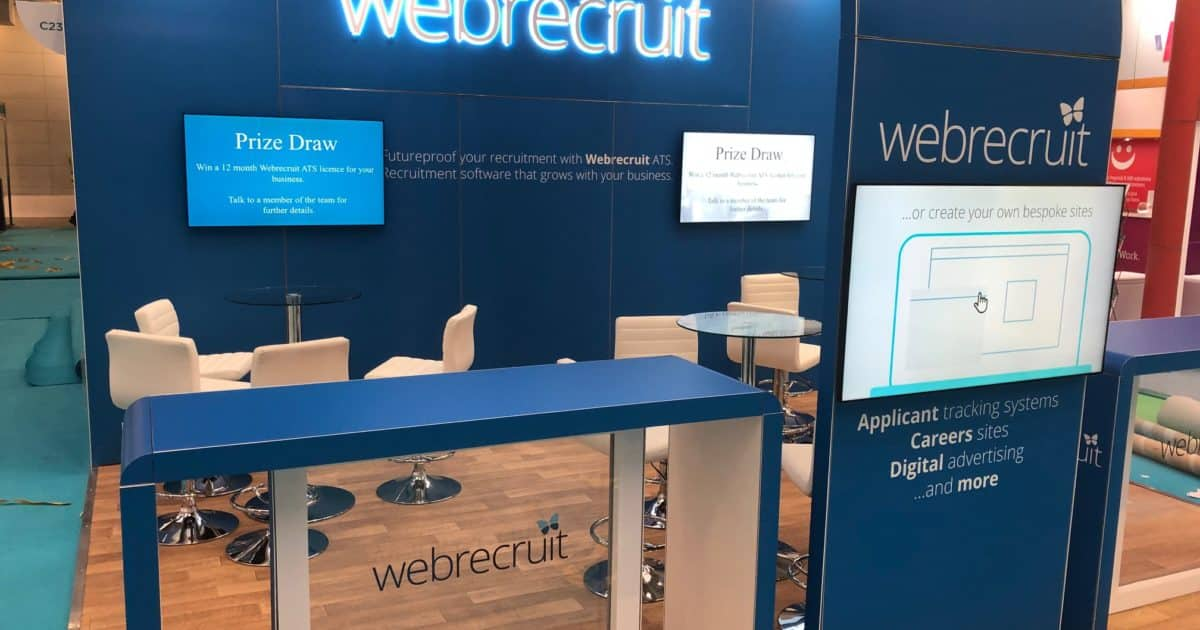 Webrecruit at The Festival of Work – 5 x 5m