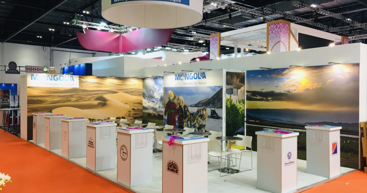 Mongolian Tourism Association at WTM 2019 9.5m x 5m