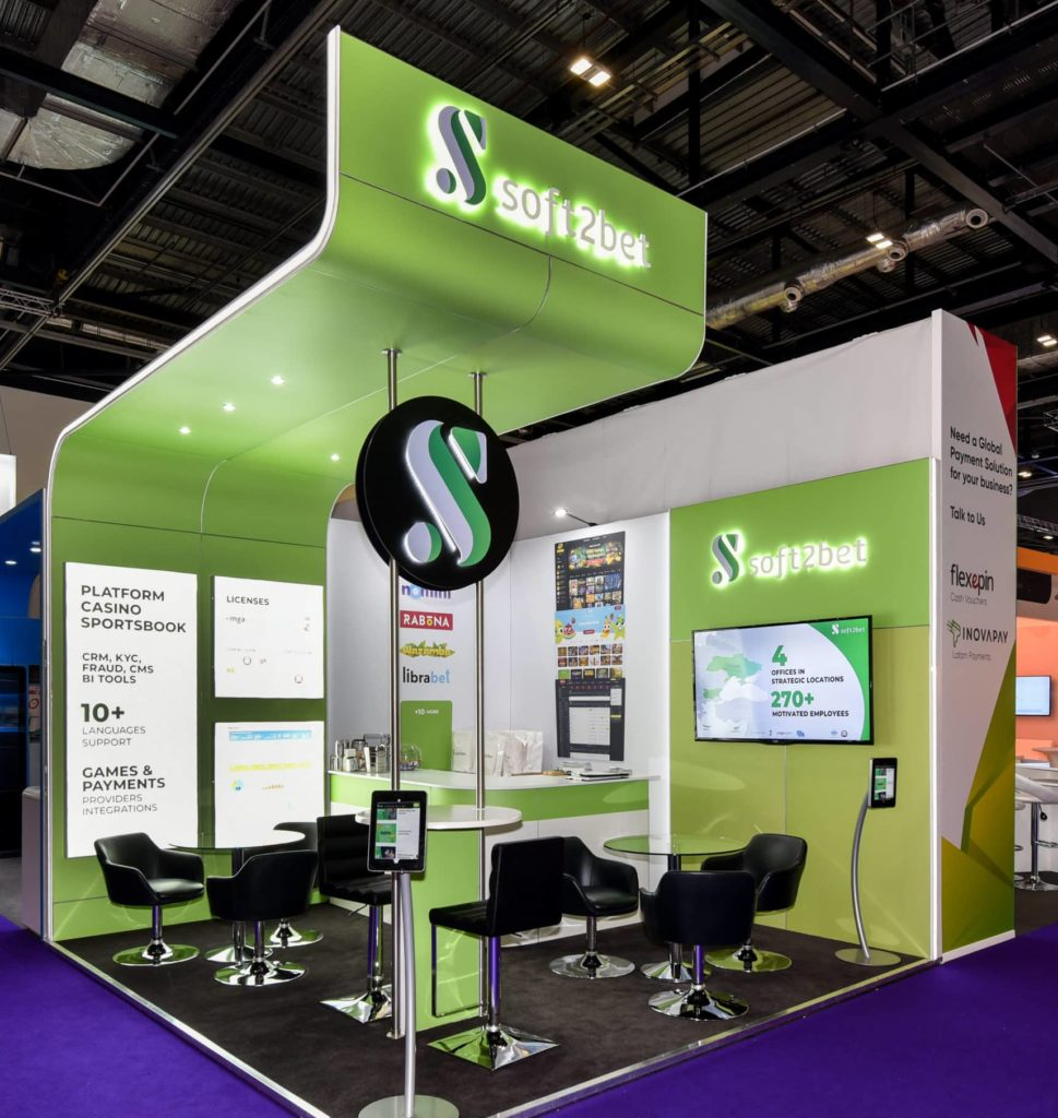 Soft2Bet exhibition stand