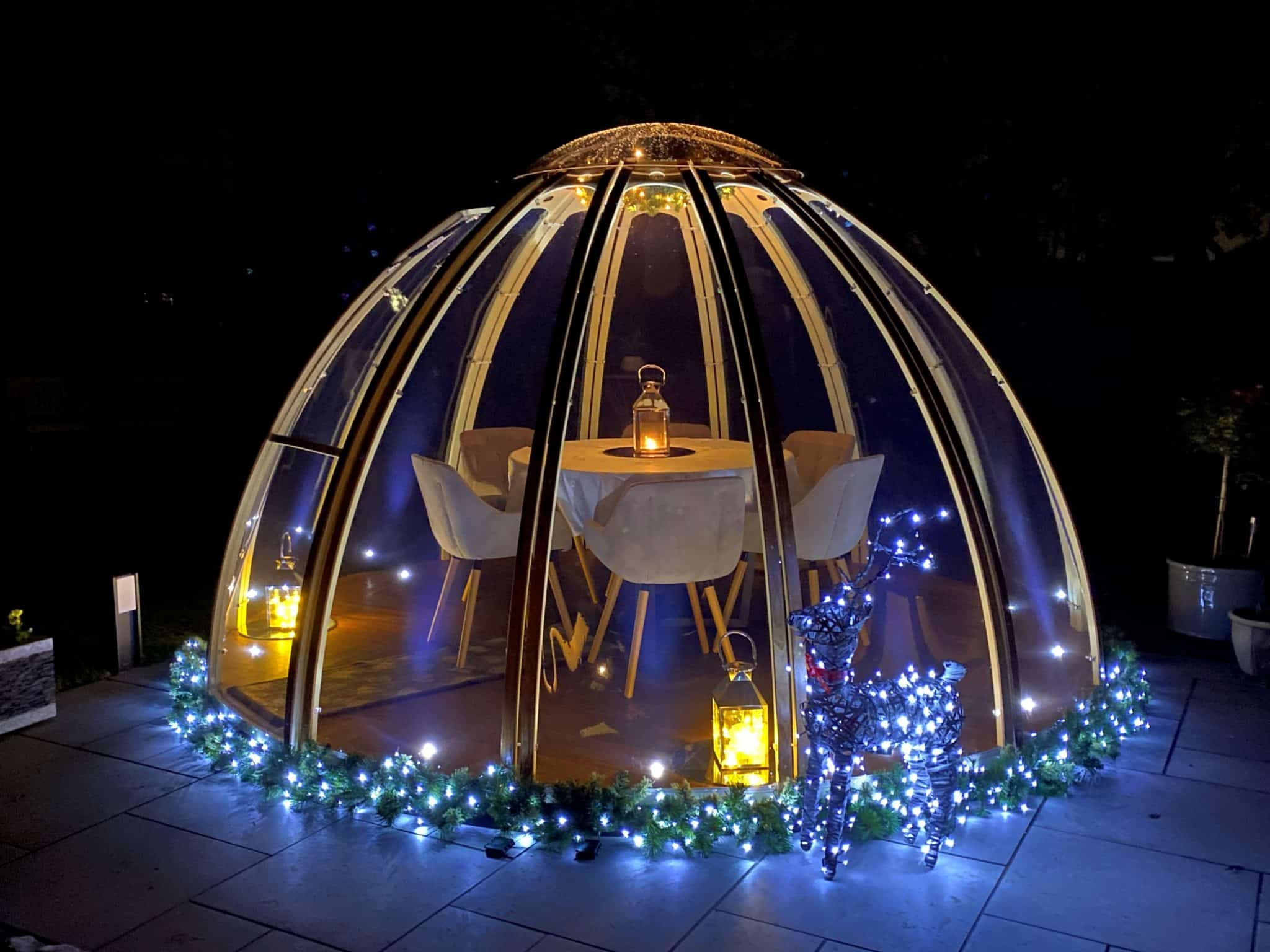 christmas dining dome