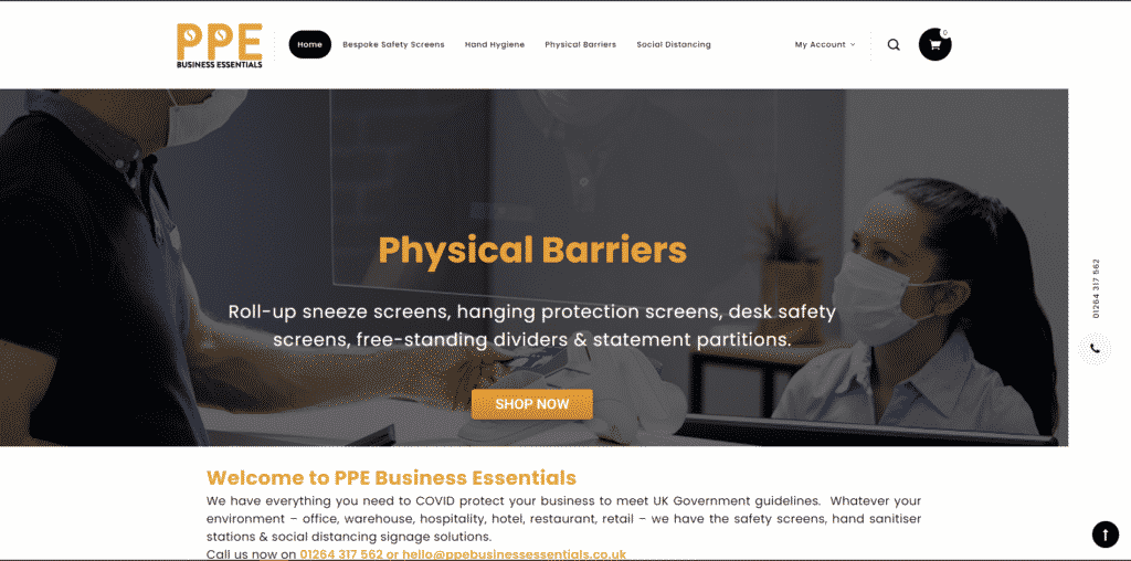 PPE Business Essentials safety screens
