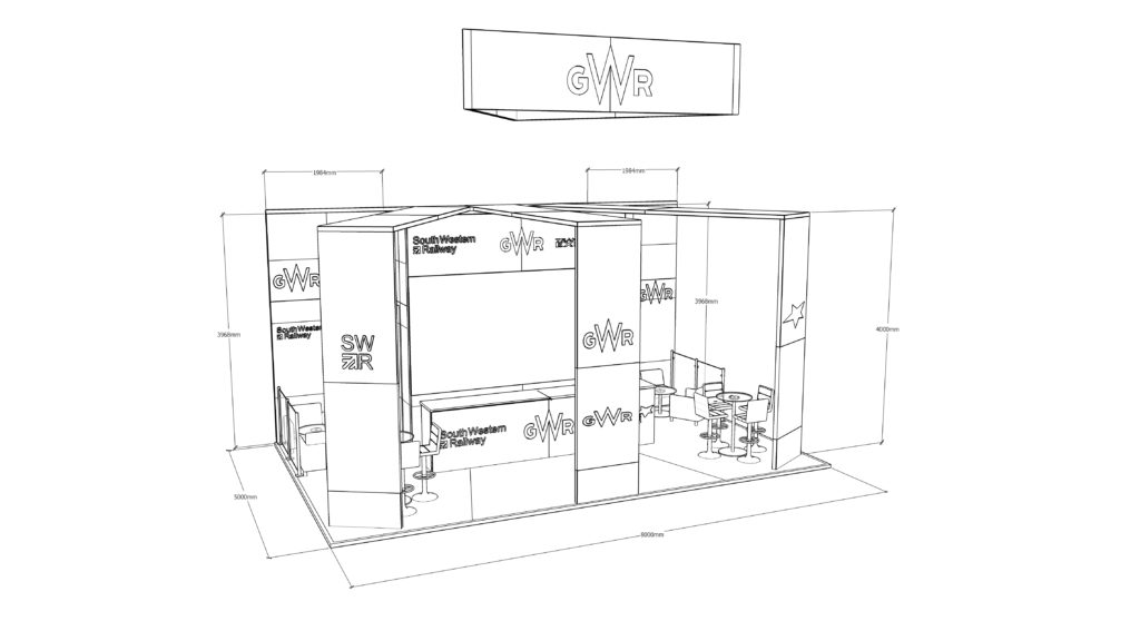 Sketch-Up Measurements of Exhibition Stand